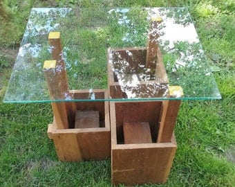 Glass Top Patio Plant Stand