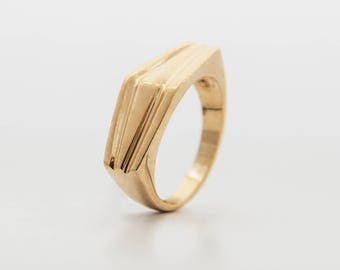 Gold Peak Ring – 14K Yellow Gold and Gold Plated Ring for Men or Women