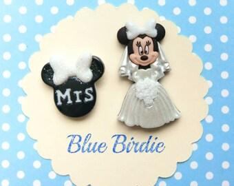 Minnie Mouse bride brooch Mrs brooch Disney jewelry Minnie Mouse Disney brooch Disney jewellery Minnie Mouse jewelry Disney wedding gifts