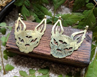 Mini sphynx cat dangles