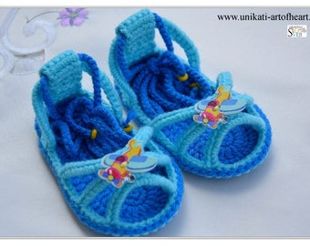 Crochet Baby / Baby Sandals / Girls Sandals / Boys Sandals / Baby Shoes / Newborn Gift / Summer Shoes / Flip Flops / Barefoot / Cute Sandals