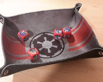 Imperial Print Collapsible Dice Tray with Sewn Edge