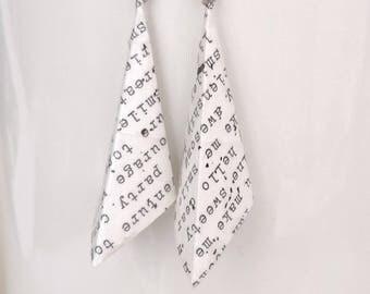 Origami Earrings- Origami Jewelry-Origami Earrings-Paper Jewelry- -Dange & Drop Earrings-Gifts for Her