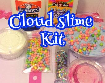 Cloud slime DIY kit