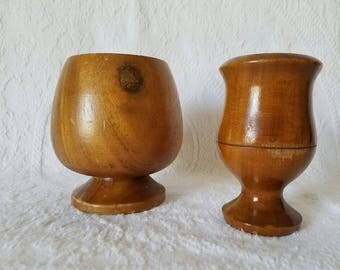 Vintage Wooden Cups