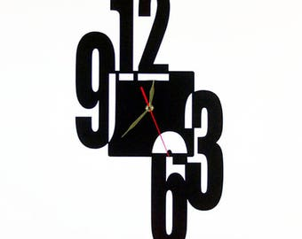 Fashion wall clock with numbers, Fashion wall clock, Acrylic art decoration