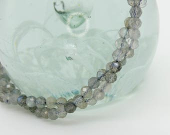 Natural Labradorite Round Faceted Ball Sphere Gemstone Loose Bead Beads 3mm 5mm