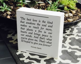 nicholas sparks  nicholas sparks quote the notebook 1996 book worm gift farmhouse home decor