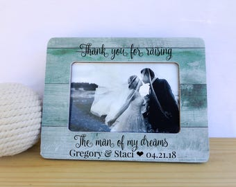 Thank You for Raising the Man of my Dreams. Personalized Mother of the Groom Gift Parents of the groom gift Thank You Gift for Mother in Law