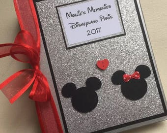 Personalised Disney Minnie Mickey Mouse Photo Album Florida Holiday Hand Made