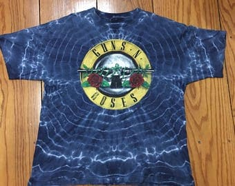 Vintage 80s Guns and Roses Tie Dry T-shirt