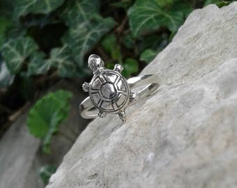 Turtle Ring, Solid Sterling Silver Turtle Ring, Turtle Jewelry