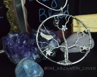 Wire wrapped tree necklace