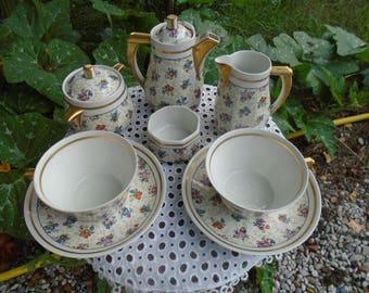 Service porcelain of Limoges signed - 50s tea