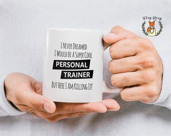 Personal Trainer, Coffee Mug, Personal Trainer Mug, Gift For Trainer, Coffee, Fitness, Funny Coffee Mugs, Crossfit, CM-111