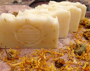 Unscented, All Natural, Calendula Soap, Baby Soap