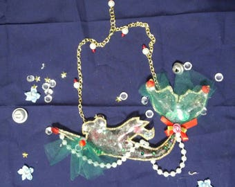 Sailor Pluto mermaid necklace
