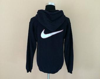 Vintage 90's Nike Hoodies Big Embroidery Logo Spellout Nice Design // Nike Hoodies // Nike pullover