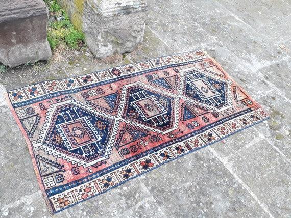 turkish rug pink and blue rug vintage rug teppich turkish. Black Bedroom Furniture Sets. Home Design Ideas