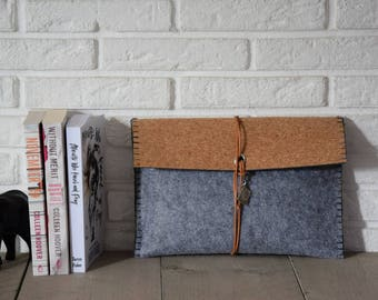 Book Sleeve Cork Gray