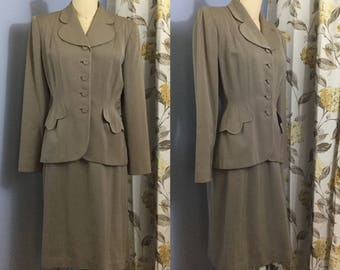 1940s Taupe Suit