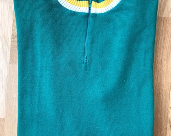 Vintage 60's Acrylic Cycling Jersey Long Sleeve Made In France