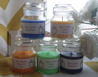 Beer scented candle, handmade in Wales, natural soy wax, great gifts
