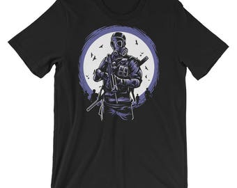 Gas Mask Soldier Short-Sleeve Unisex T-Shirt