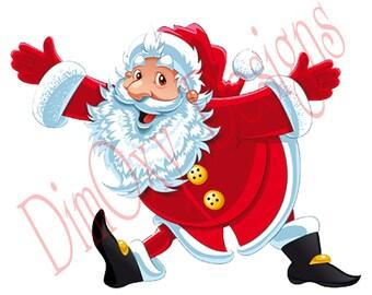 Happy Santa. Christmas and Holiday window Static Cling decor. OSD-SCFC-CSH1