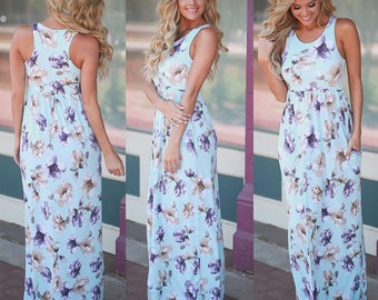 Hot selling! Western printing style long vest dress floral printed dress for girl/women