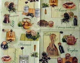 Ceylon tea napkin