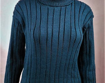 Turtleneck Sweater, pullover Wool Sweater winter sweater, dark blue sweater, warm sweater, Wool Sweater, pullover winter sweater handmade sweater