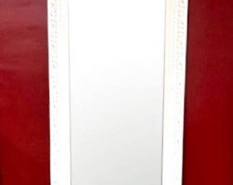Shabby Chic Full Length Mirror - Solid Wood