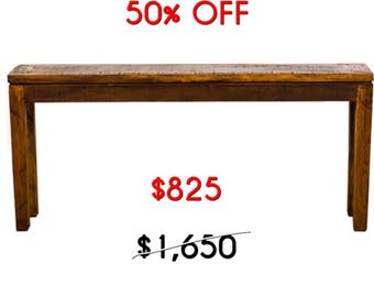 Handmade Reclaimed Wood Console Table Moving Sale 50% Off