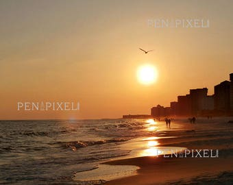 """Sunset on the Gulf of Mexico 11"""" x 14"""" Photograph"""