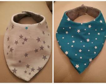 Handmade fabric bandana bib