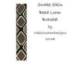 Snake Skin Bead Loom Bracelet Pattern by VikisCustomDesigns