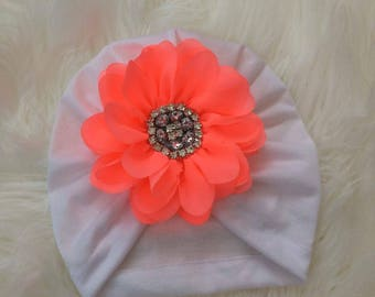 Big flower turban