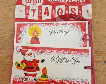 Brand new & unused vintage Christmas gift/present tags, x 7