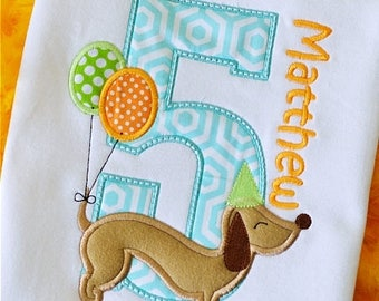 BIRTHDAY DOG NUMBERS Machine Embroidery ,Design File Pattern 4x4 5x7 6x10.  .