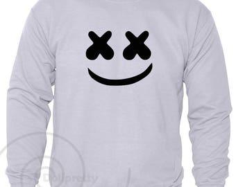 Marshmello Sweatshirt Top DJ Mellow Dance House Music DotCom EDM Sweatshirt Jumper