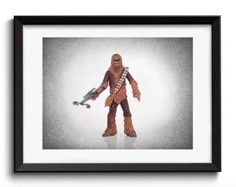 Chewbacca wall print, Star Wars, Star wars art, boys room decor, kids room decor, Star wars print, Star wars decor,  star wars poster