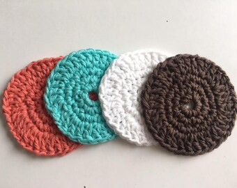 Cotton Face Scrubbies/Makeup Removers/Coasters