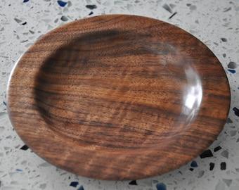 """Curly Black Walnut Small Dish - 6.5"""" Diameter"""