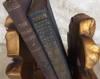 Set of 2 Antique Books The Headkeeper and Essay on Population Vol. II