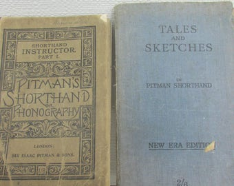 Two Pitmans Shorthand or Phonography Booklets - One from 1895, one a Little Later