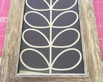 Orla Kiely stem design framed print