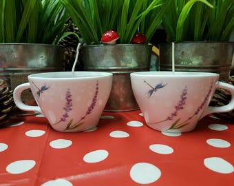 Tea cup fragrance candles