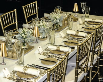 Gold Placemats (PACK OF 20)Wedding Placemats, Elegance Design