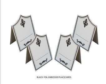 Black Place Cards( PACK OF 20) Elegance Design